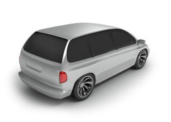 silver vagon back side
