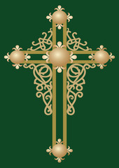 Christian Holy cross with ornament