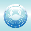 Colorful horoscope symbol of cancer