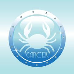 Colorful horoscope symbol of cancer