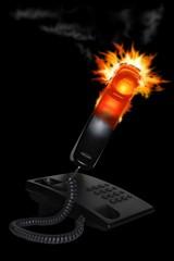 telefono in fiamme
