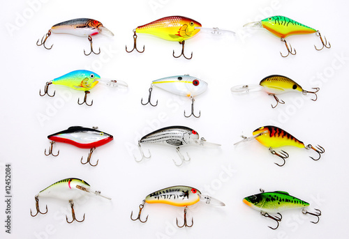 Assorted crankbaits for fishing