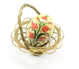 Antique Easter Egg and Basket