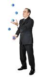 Businessman juggling poster