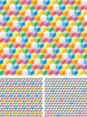 Background with grey and multicolored cubes