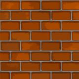 Brick wall with realistic bricks and mortar poster