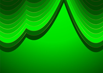 Green and golden  stripes  background (vector)