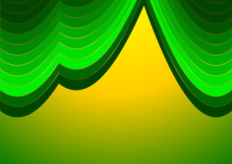 Green and yellow  stripes  background (vector)