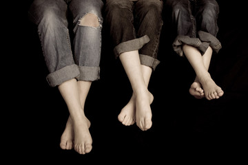 Three Pairs of feet