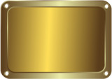 Metal golden platinum with round apertures on edges poster