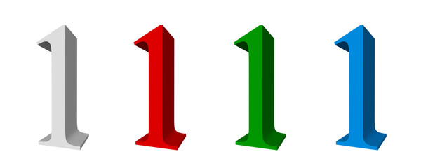 3D digits _ 1