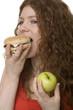 Fastfood oder Obst