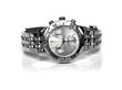 canvas print picture - used silver watch
