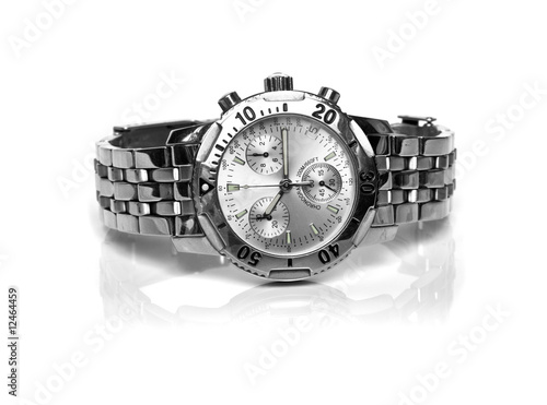 canvas print picture used silver watch