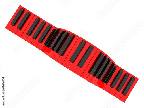 three dimensional wavy piano keyboard