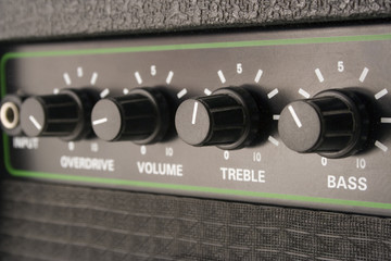 Close-up of Electric Guitar amplifier