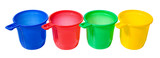 Set of color cups