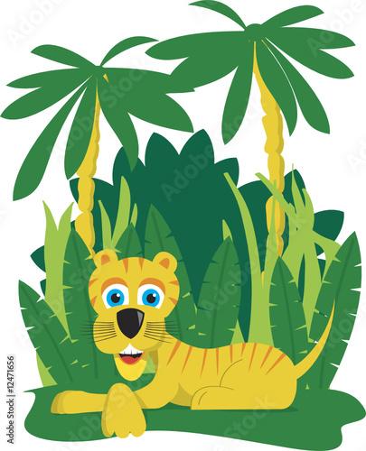 Naklejka Jungle Tiger