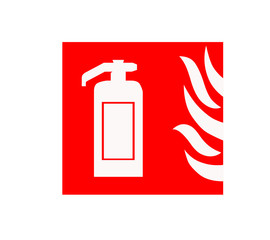 fire extinguisher position sign