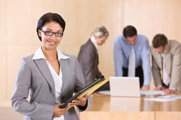 portrait of attractive female executive