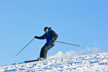 Skier on the slope.