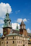 Wawel castle over blue sky. Krakow, Poland poster