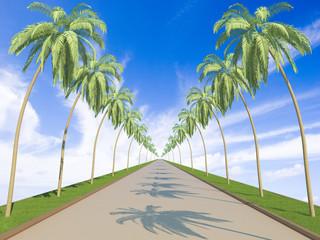Road to heaven concept. Hi-res 3d rendering.