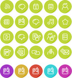 Plain stickers icon set: Internet blogging poster
