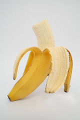 Angebissene Banane