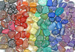 canvas print picture - Crystal tumbled chakra stones