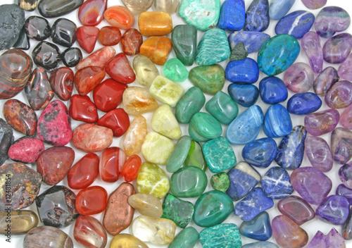 Crystal tumbled chakra stones - 12481854