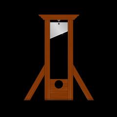 guillotine (schwarzer hintergrund)