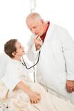 Pediatrician Entertains Patient poster