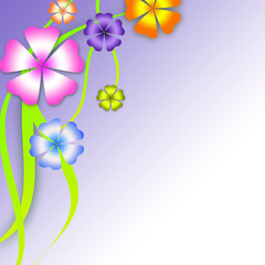 colored floral background