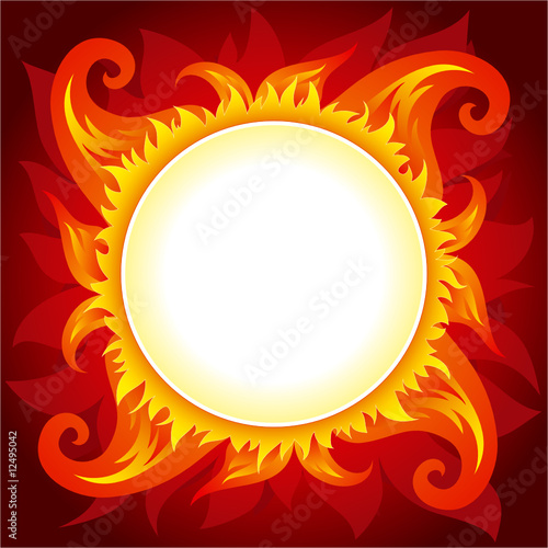Flame or sun vector background
