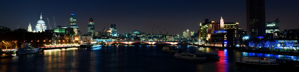 Evening shot of the City of London