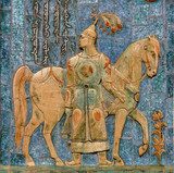 dekorační panel na témata epos kalmyčtina. kalmycká