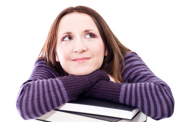 woman preperaing for exam