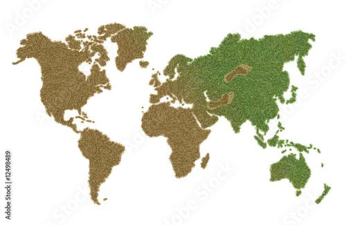 Staande foto Wereldkaart green world damaging
