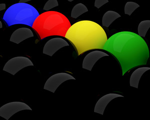 different colorful balls