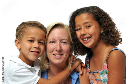 Portrait of biracial family