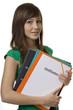 Studentin mit Mappe Certification