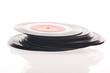 Quadro vintage gramophone vinyl records