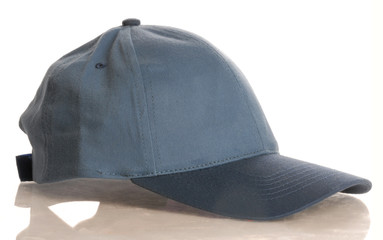 blue baseball cap isolated on white background