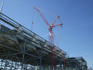 construction of ACC (air condenser) at new power plant