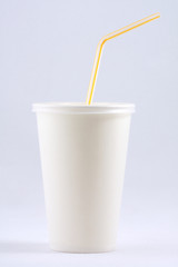 White coffee papercup