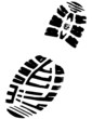 Right Mountain Boot Detailed Vector