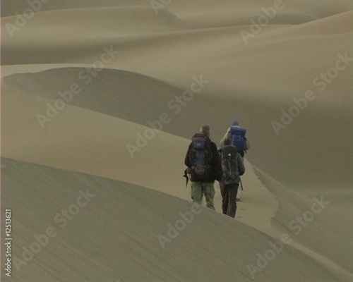 Backpackers and dunes