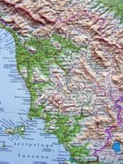 Carta geografica della Toscana