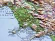 Carta geografica della Campania